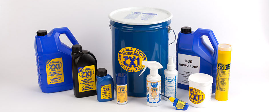 Team ZX1 - EXTRALUBE ZX1 Micro Oil Metal Treatment full lineup of products.